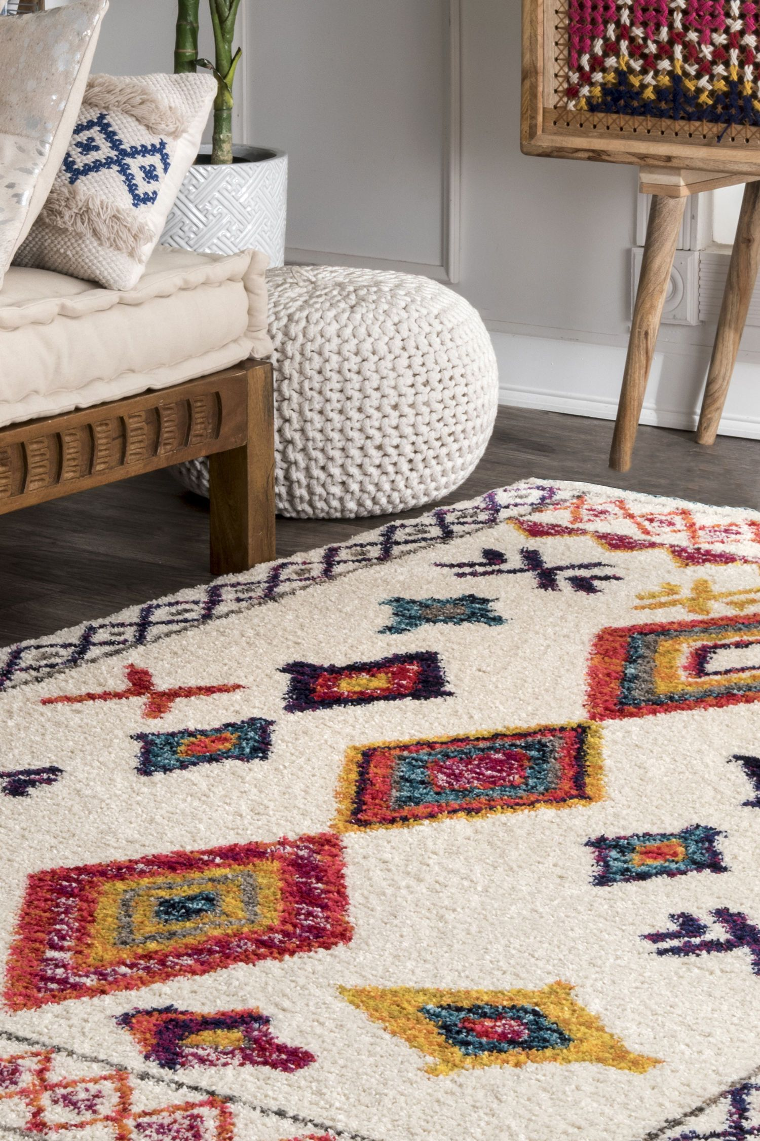 Bohemian Liz Shag Rug Color Ivory Size 5 X 8 Rugs Rugs