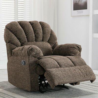 Advertisement Recliner Chair Manual Sofa Overstuffed Fabric Armrest Living Room Seat Furniture Arm Chairs Living Room Living Room Seating Recliner Chair