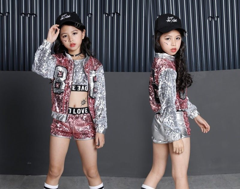 fdeb52ca6639a Discount This Month Kids Sequin Hip Hop Clothing Clothes for Girls ...