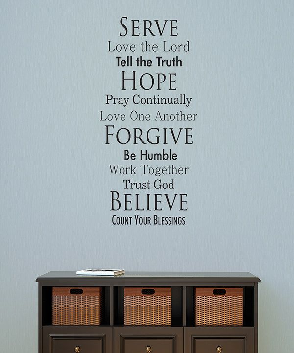 Look at this 'Serve Hope Forgive Believe' Wall Quotes™ Decal on #zulily today!