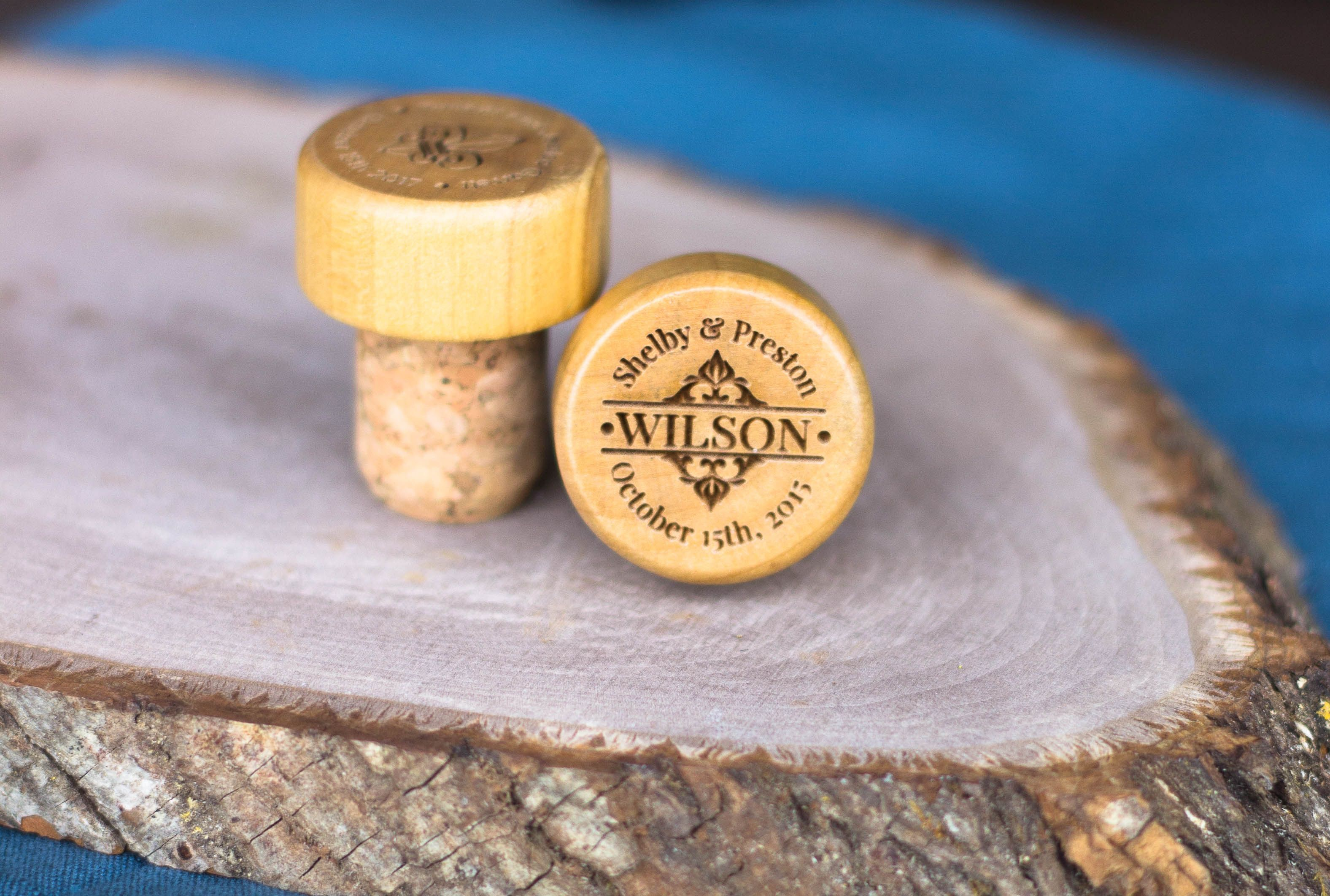 Personalized WIne Cork Bottle Stopper wedding favors | TCGCC Ideas ...