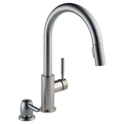 Delta 19933 Sssd Dst Trask Pulldown Kitchen Faucet Stainless Steel Kuchenarmaturen Wasserhahn Kuche Und Wasserhahn