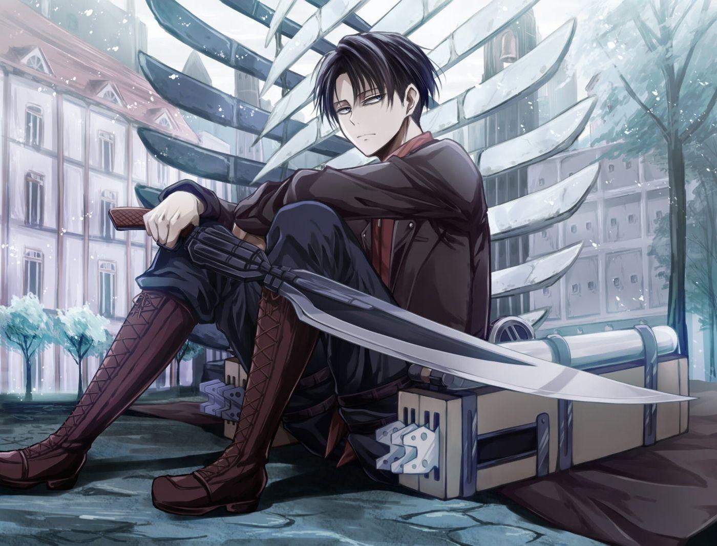 Levi 'Rivaille' (Shingeki no Kyojin) Fan Art: Levi~attack on titan