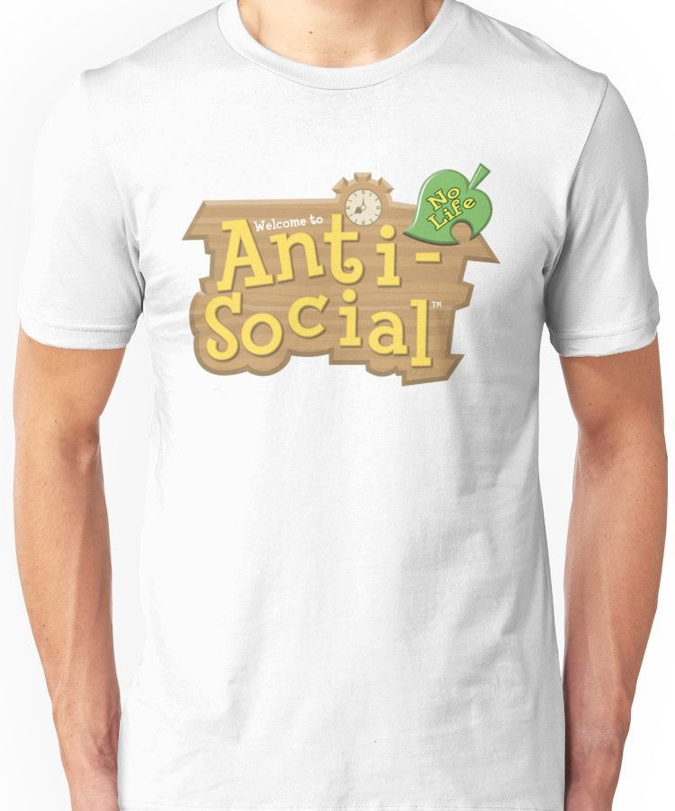 Image result for animal crossing anti social t shirt