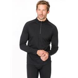 Reduced mens long sleeves  mens long sleeve shirts  SuperNatural M Base 14 Zip 230  S m l xl xxl xxxl  Black