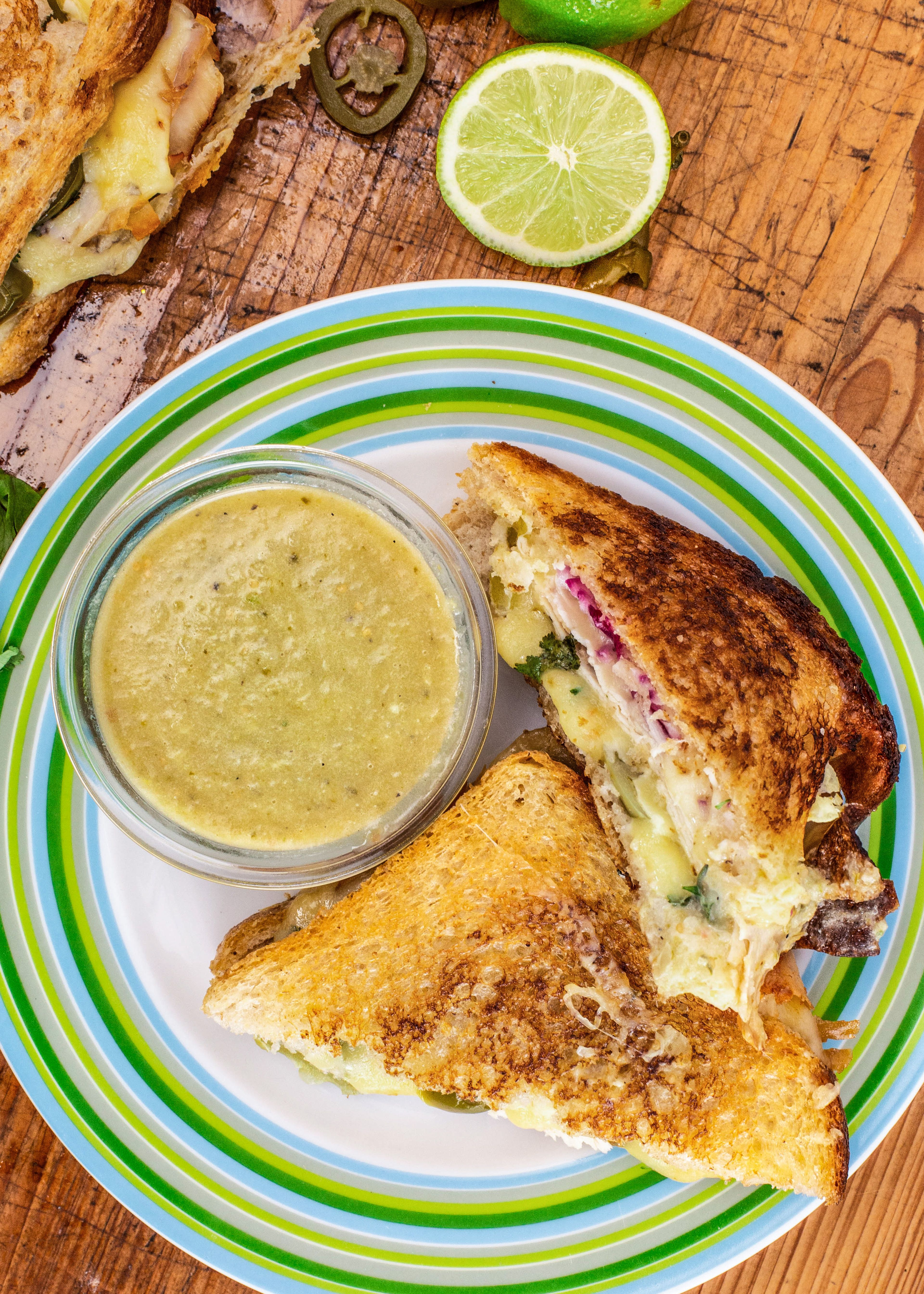 Rachael S Turkey Grilled Cheese With Suiza Dipper