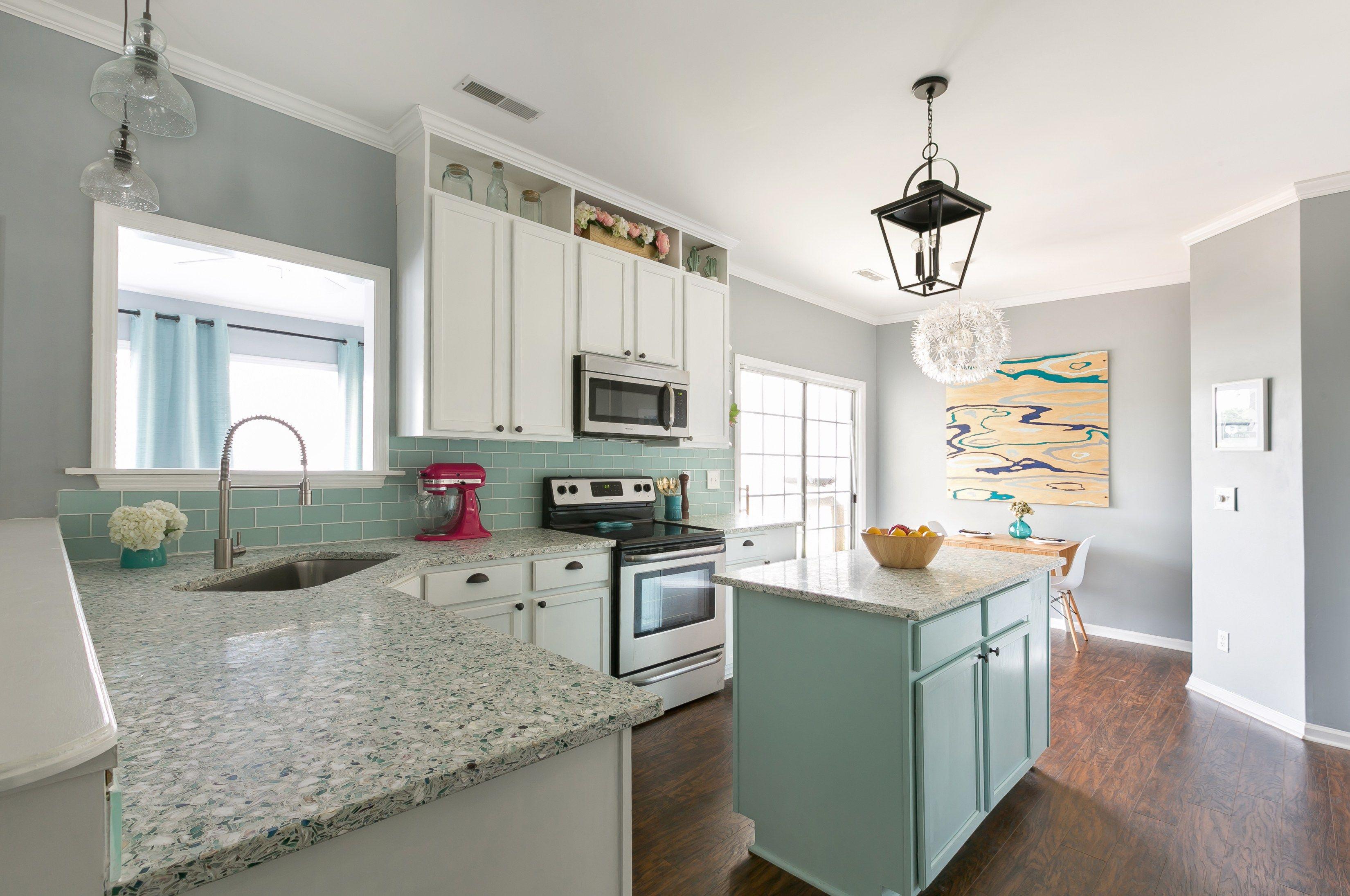 Our Kitchen for Charleston Home & Design Magazine   Green kitchen ...