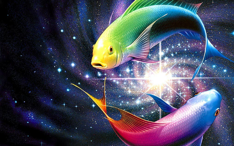 Free 3d Desktop Wallpaper Screensavers Pisces Wallpapers Pisces Hd Wallpapers Pisces Colorful Fish Pisces Moon