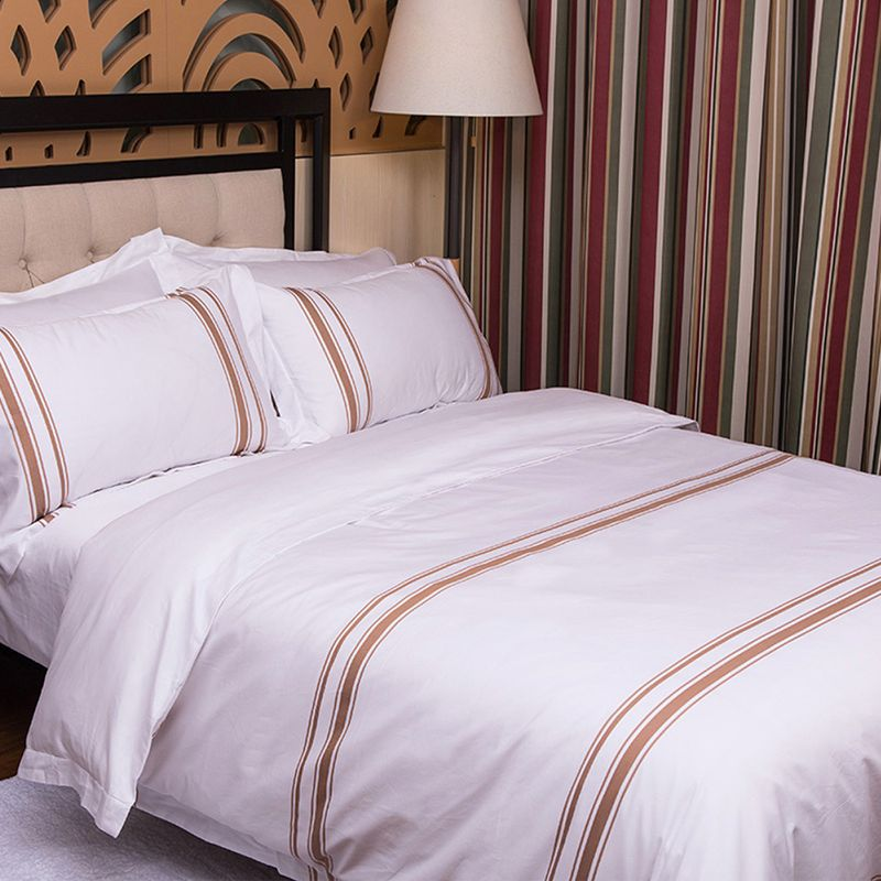 Cotton sateen bedding hotel bedding sets white bed set