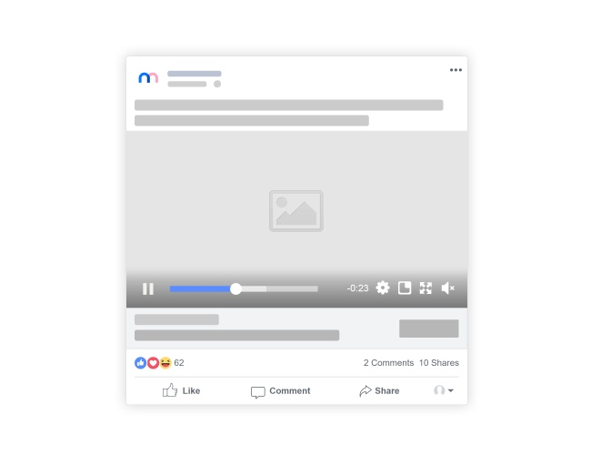Facebook posts mockup