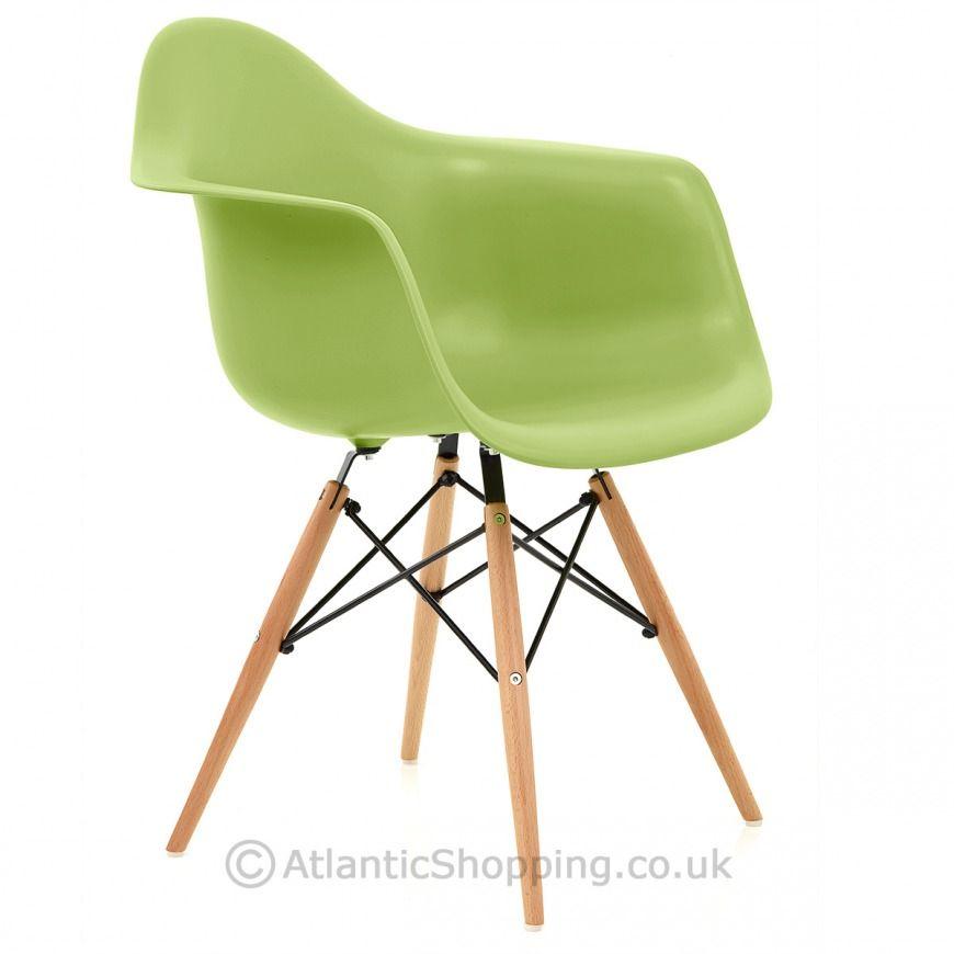 Eames Style Wooden Armchair Green Atlantic Shopping Wooden