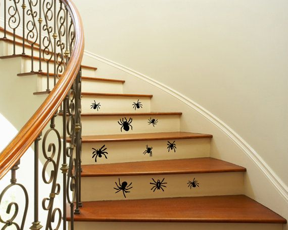 Best Wall Decals Vinyl Decal 10 Spiders Staircase By 400 x 300