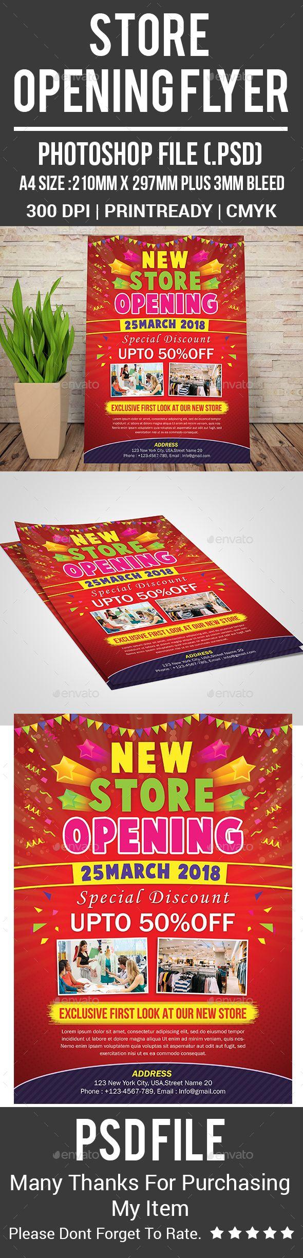 Store Opening Flyer Corporate Flyers Flyer Pinterest Flyer