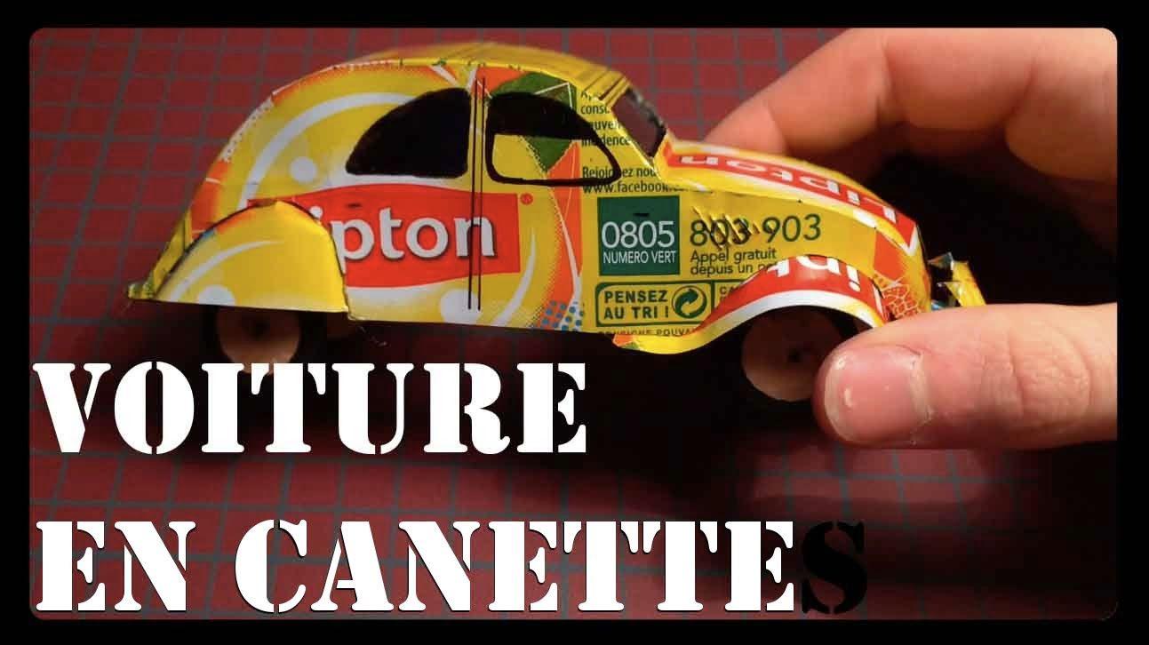 fabriquer une voiture en canette