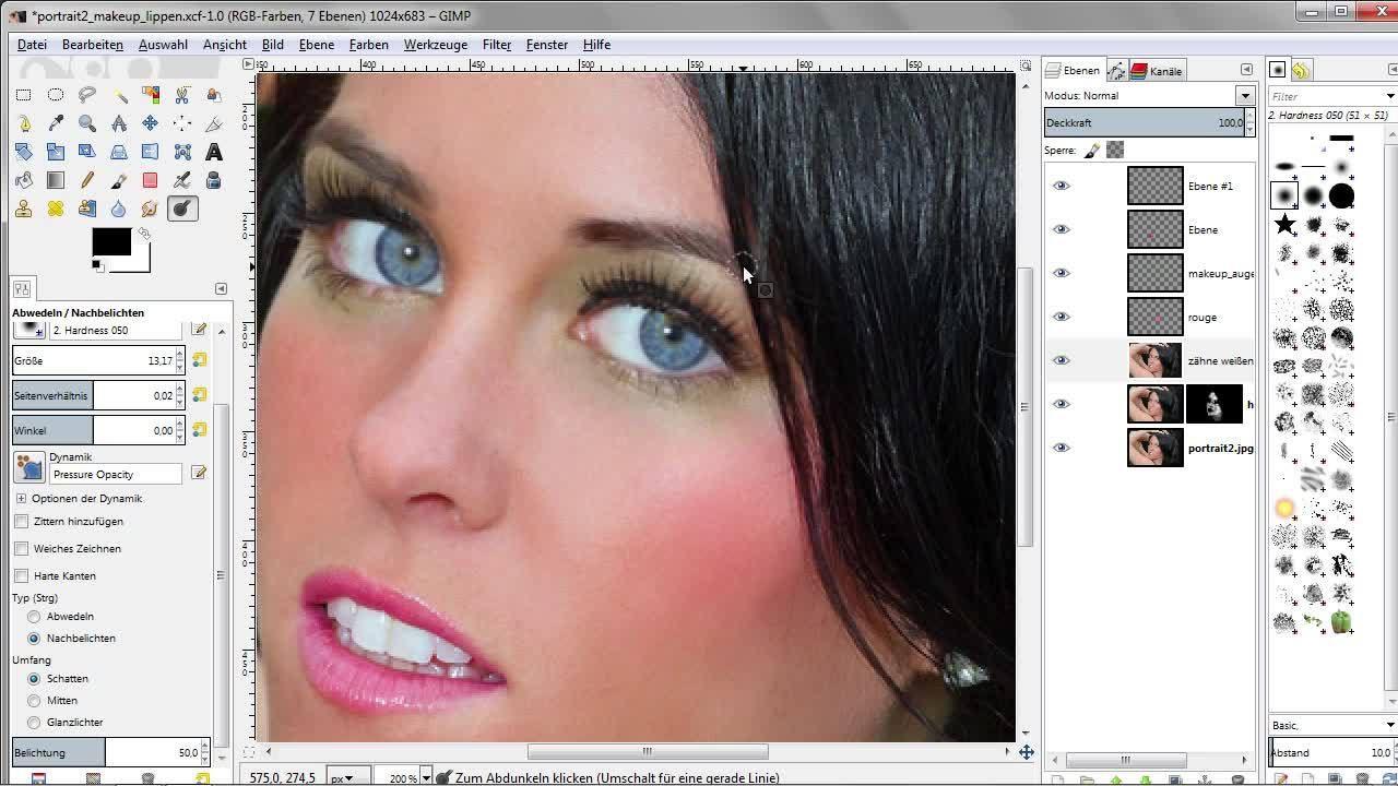 Porträt Retusche Mit Gimp Augen Strahlen Lassen Retusche Bildbearbeitung Photoshop