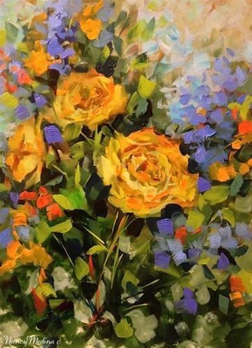 Blown away yellow roses by nancy medina flowers pinterest artists of texas contemporary paintings and art blown away yellow roses by texas flower artist nancy medina mightylinksfo