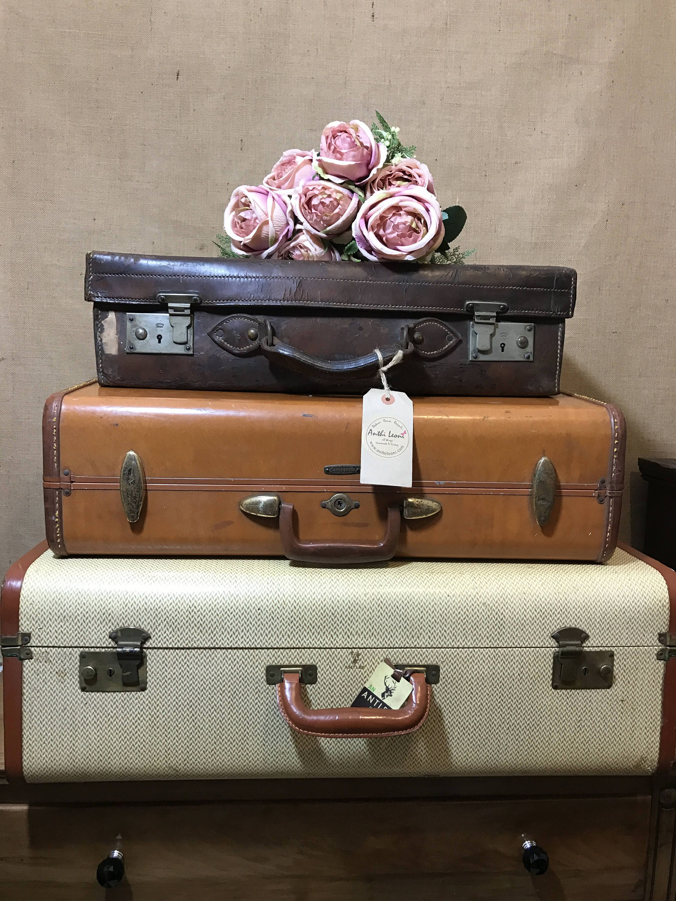 Vintage Designer Stacking Suitcases | Vintage LUGGAGE | Vintage Home Decor  | Vintage TRUNKS | Interior Design Inspirations