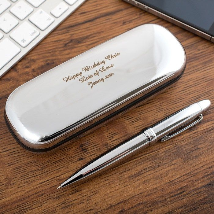 Any Word Teacher Father Gift Birthday Personalised pen engrave wedding wife Dad
