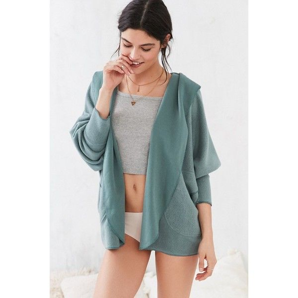 Silence   Noise Seoul Cozy Hooded Cardigan ($39) ❤ liked on ...