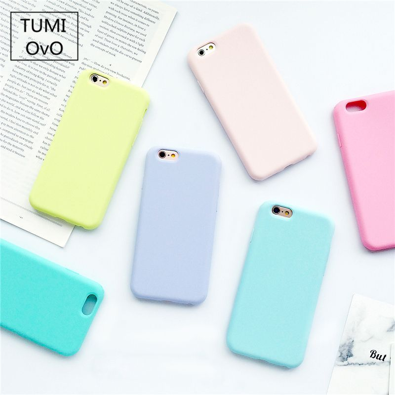 Funda para iPhone 7/8 Carcasa Silicona Suave Colores del Caramelo