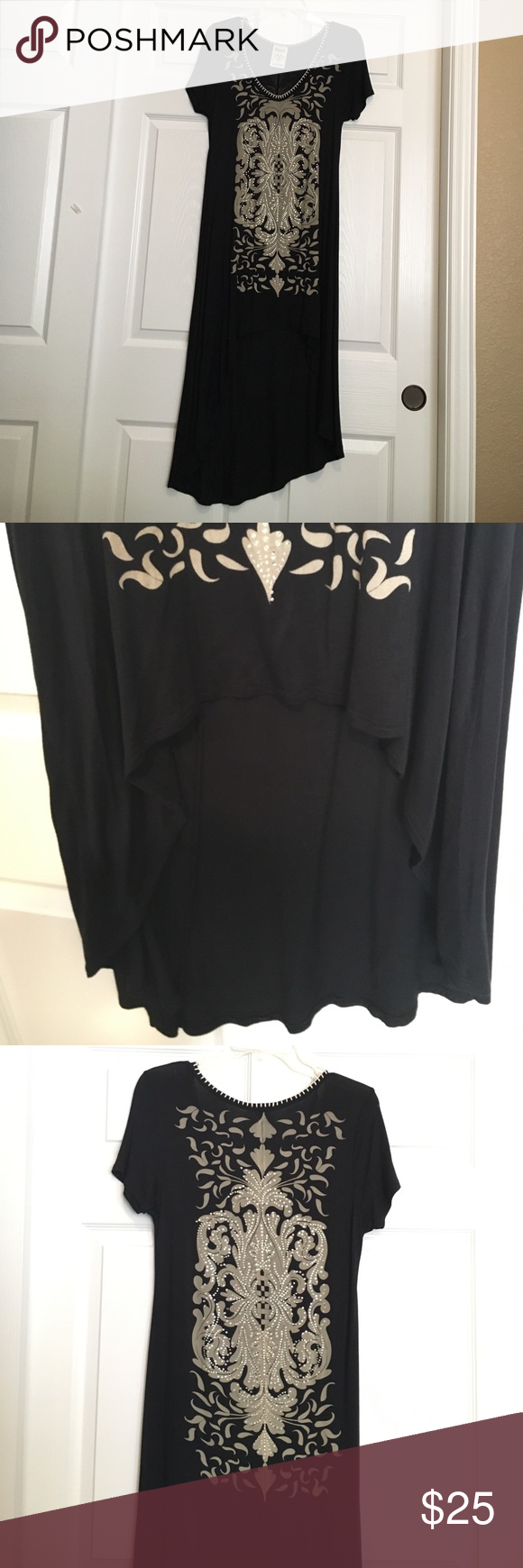 Black dress with rhinestones shorts customer support and delivery