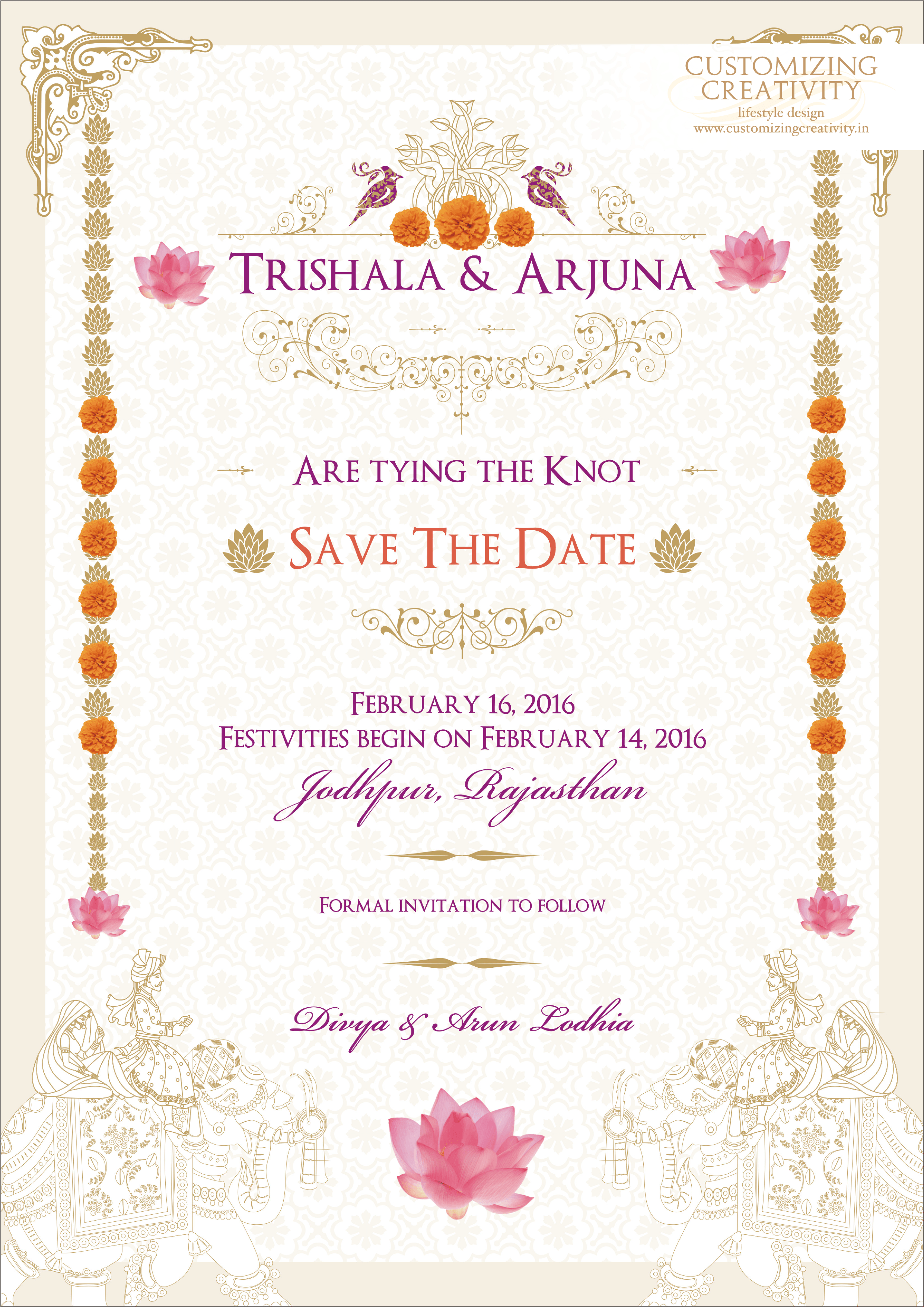Wedding Invitations by Customizing88 Wedding invitation