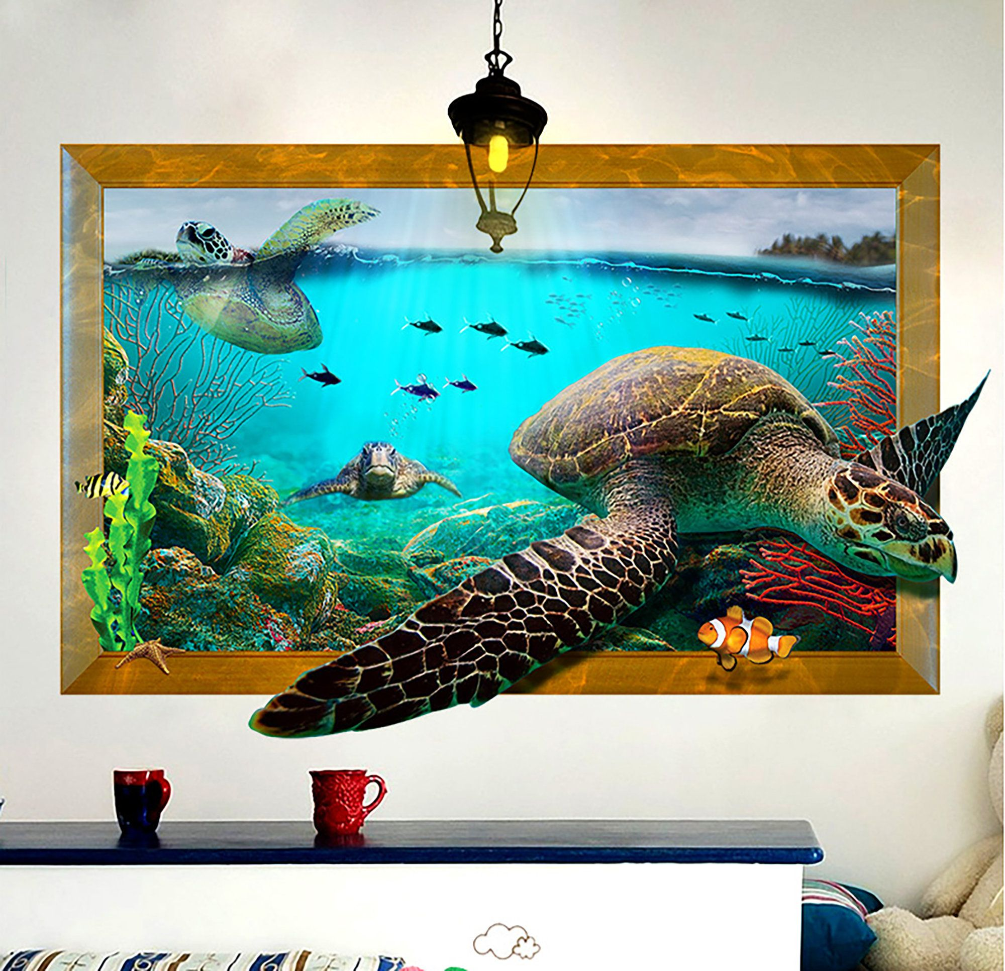 3d three dimensional effect wall paste plane printing on wall stickers 3d id=81870