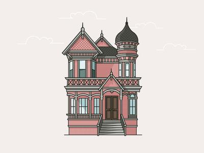 Victorian Mansion Isometric