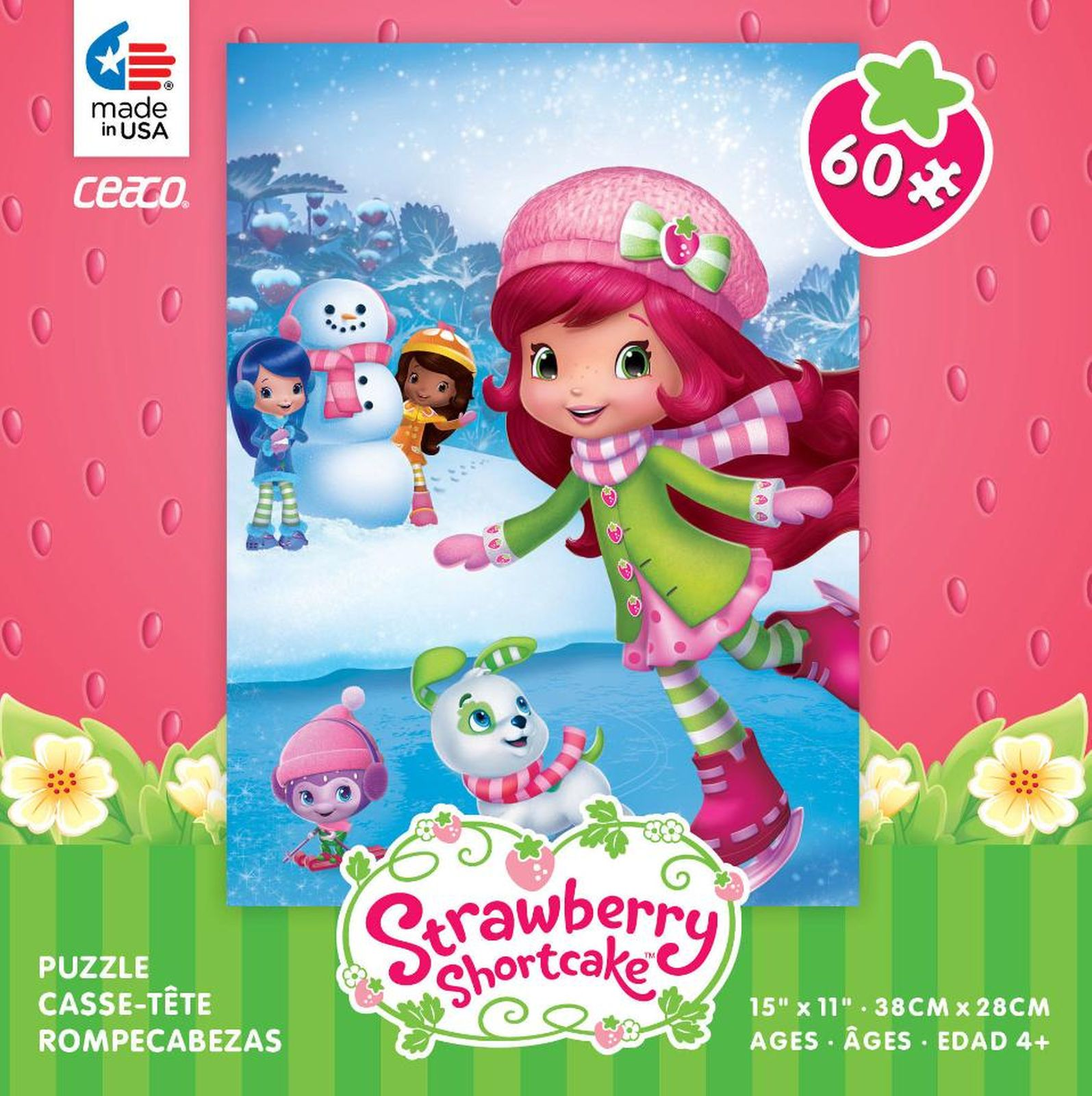 Ceaco Strawberry Shortcake Jigsaw Puzzle 60-Piece - Ice Skating
