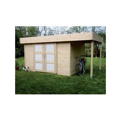abri de jardin bois toit plat 131