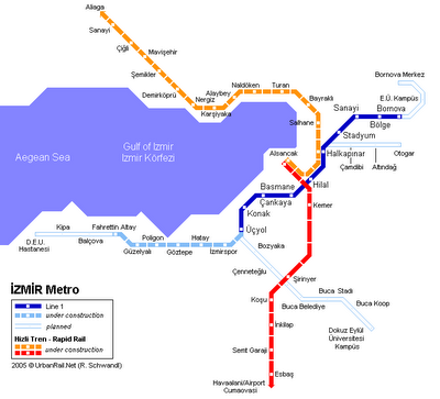 Izmir Metro Metro Maps of the World Pinterest Izmir Rapid