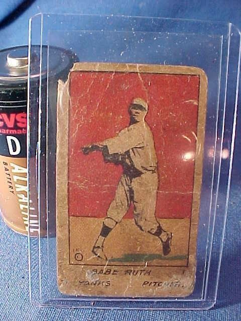 Authentic 1920 BABE RUTH Pitching Hand Cut BASEBALL W516 Strip CARD  https://t.co/gguPVhSYYc https://t.co/WJonRVcniv