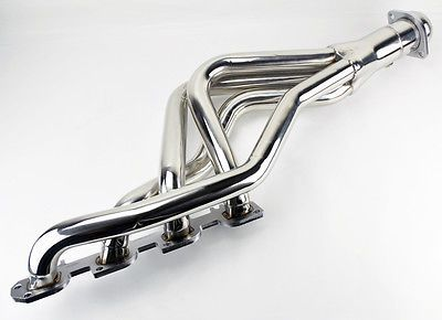For 2009-2016 Dodge Ram 1500 Headers Exhaust Shorty Hemi Manifold Stainless 5.7L