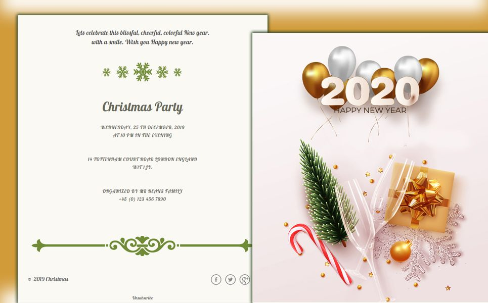 Christmas New Years Newsletter Template Templatemonster Newsletter Templates Email Template Design Email Newsletter Template