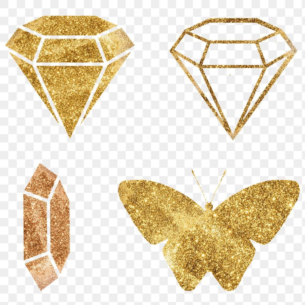 Png Golden Diamond And Butterfly Sign Set Free Image By Rawpixel Com Adj Butterfly Golden Diamonds Bronze Butterfly