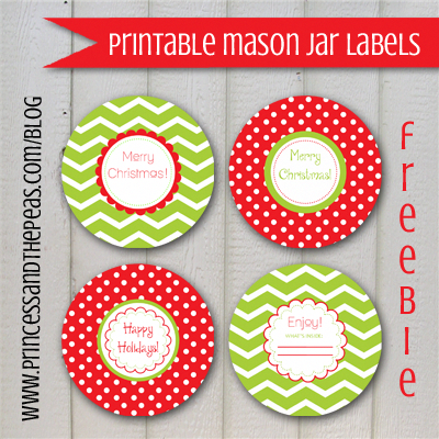 Mason Jar Lid Labels Printable Free Christmas Mason Jar Labels Mason Jars Labels Christmas Labels