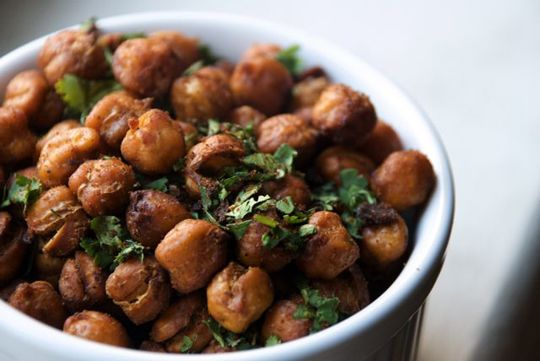 Roasted Chick Peas, I've made these! Soo Yummy! So far we've made the lime chile cilantro and rosmary garlic parmesan flavors.