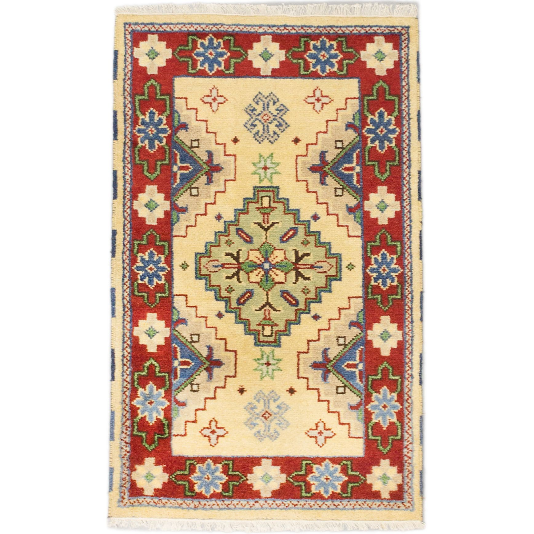 This Fine Hand Knotted Indian Rug Features A Strong Persian Influenced Design
