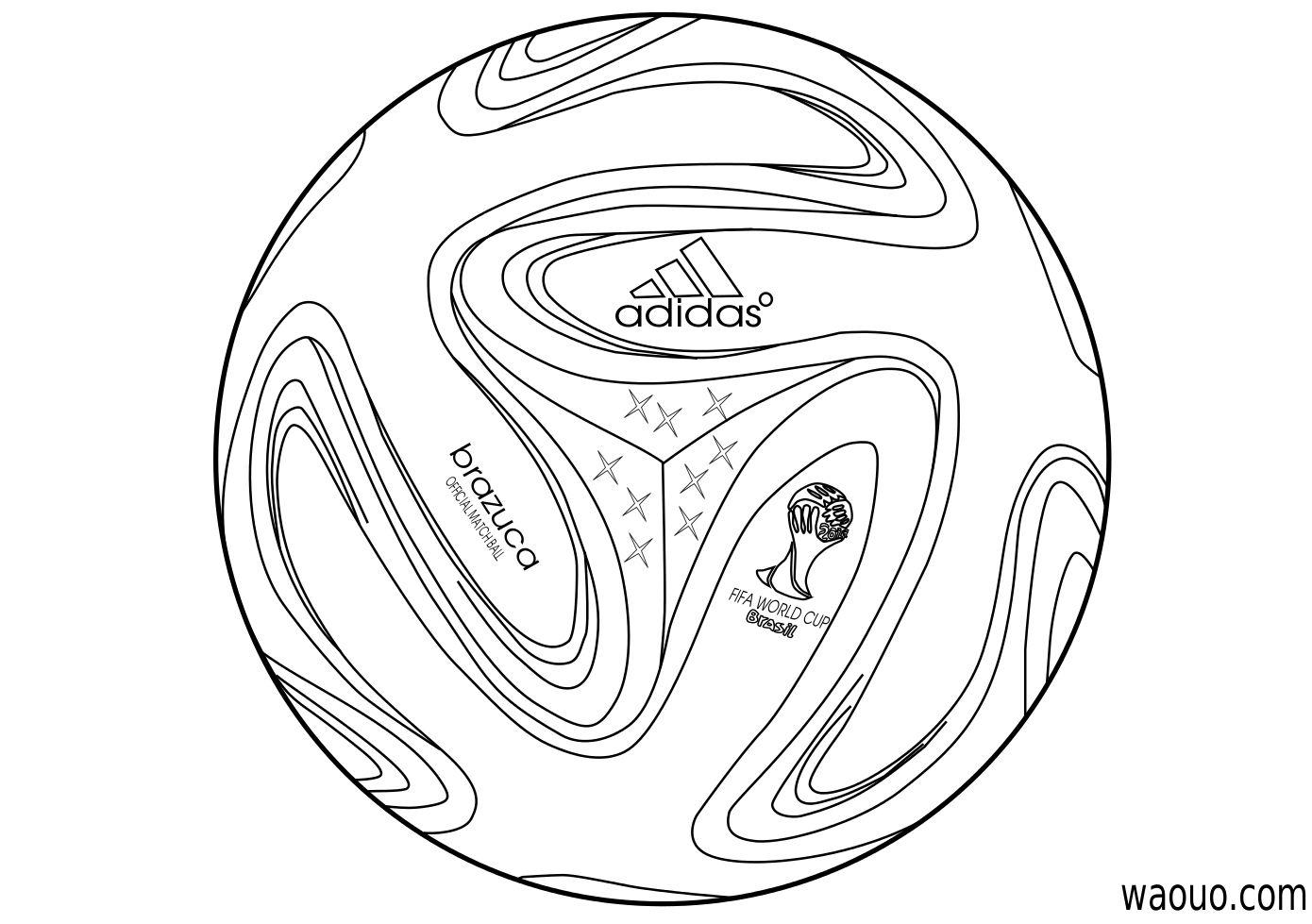 Coloriage Ballon De Foot Coupe Du Monde 2014 Coloriage