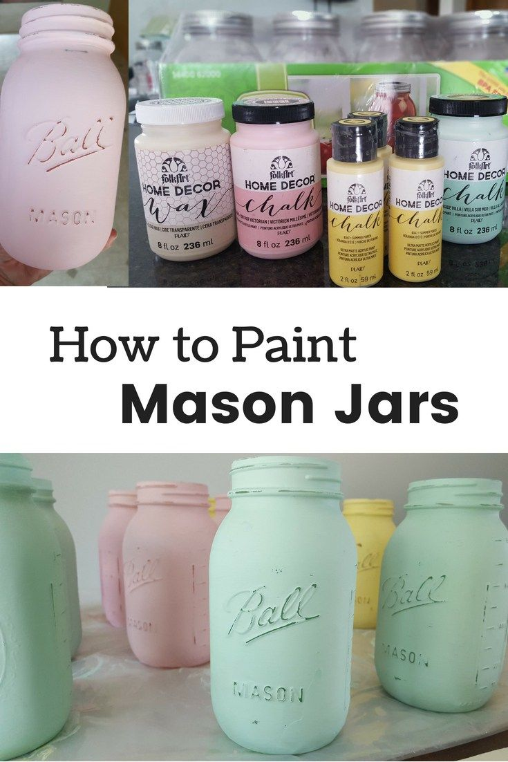 How to Paint Mason Jars - planningforkeeps.com