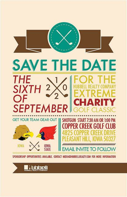 Charity Golf Save-the-Date | Golf outing, Save the date ...