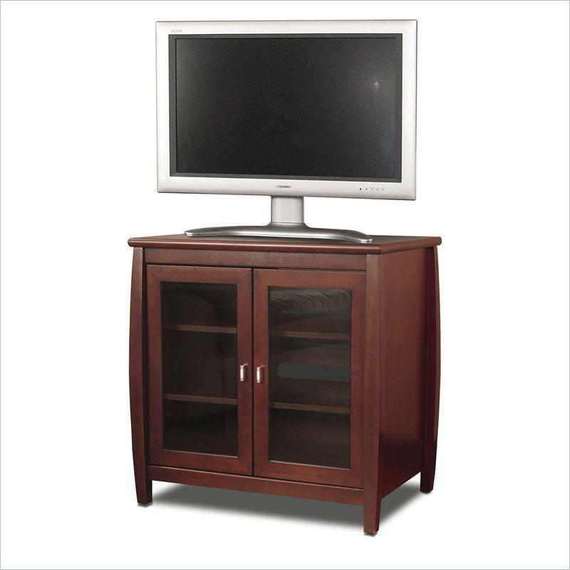 Tech Craft Veneto Series 30 Walnut Tall Boy Lcd Plasma Wood Tv Stand Swd30 Tv Stand Wood Highboy Tv Stand Tv Stand 30 inch tall tv stand