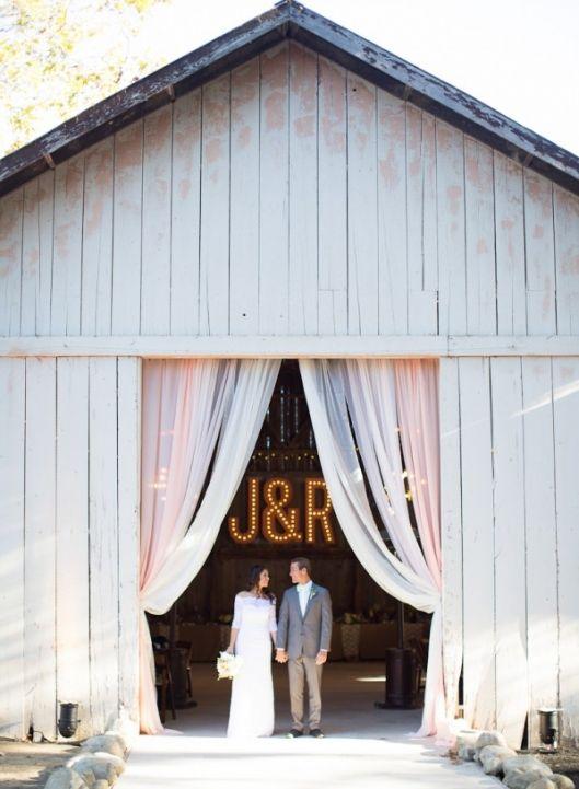 Amazing Barn Reception @ a Rancho Dos Pueblos Wedding by Annie McElwain - enfianced
