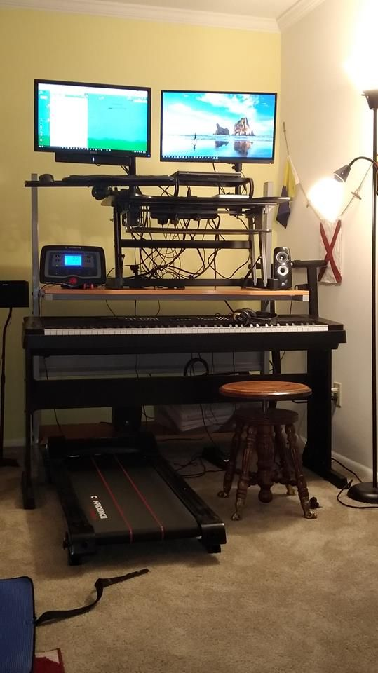 My Home Sit Stand Treadmill Piano Desk Products Seen Here Yamaha Dgx 650b Digital Piano Ikea Jerker Desk Versi Treadmill Desk Piano Desk Laptop Tray