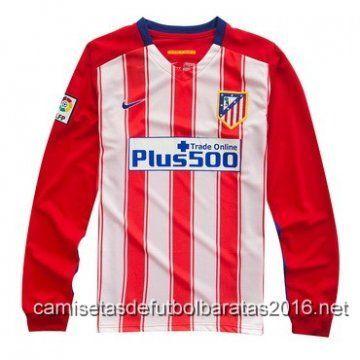camisetas de futbol Atlético de Madrid manga larga