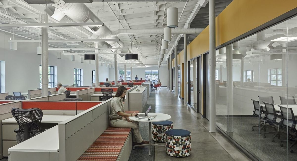 Warehouse Office Space Concept Hok Converted Warehouse ...