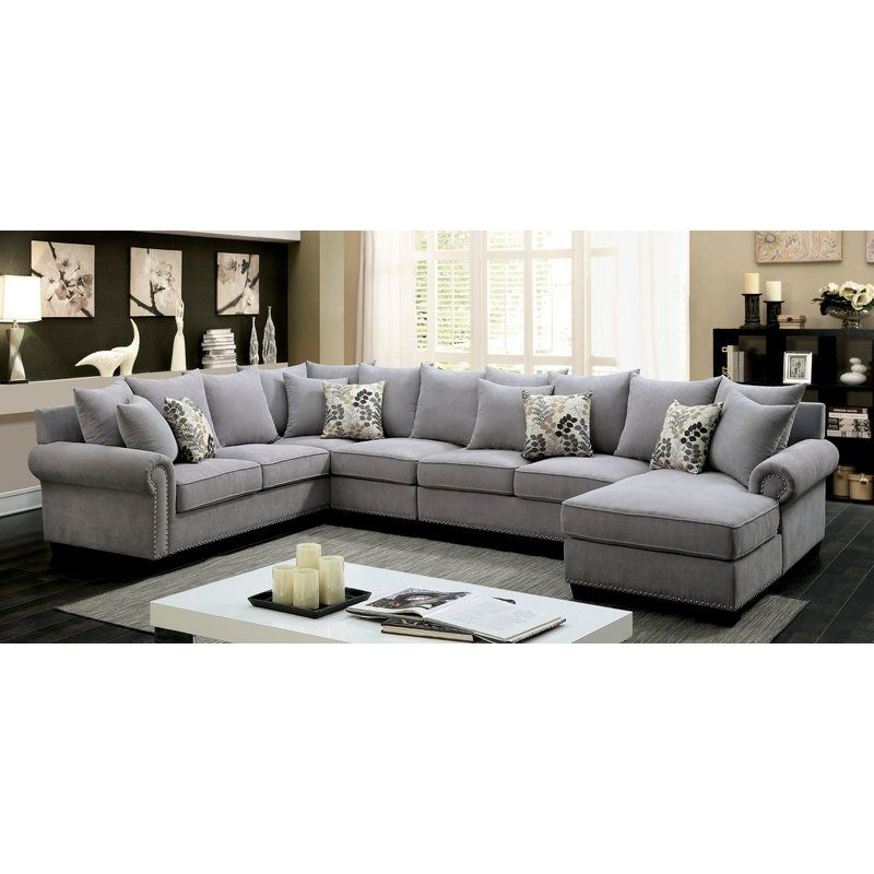 Braidwood Left Hand Facing Sectional Fabric Sectional Sofas Grey Sectional Sofa Sectional Living Room Sets
