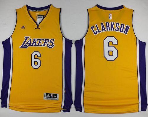 9cffab3a8 Lakers  6 Jordan Clarkson Yellow Stitched NBA Jersey