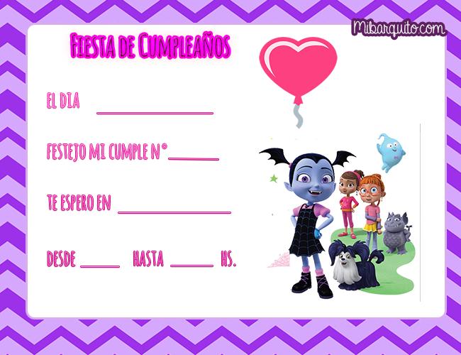 Vampirina Invitaciones De Cumpleaños Mi Barquito En 2019
