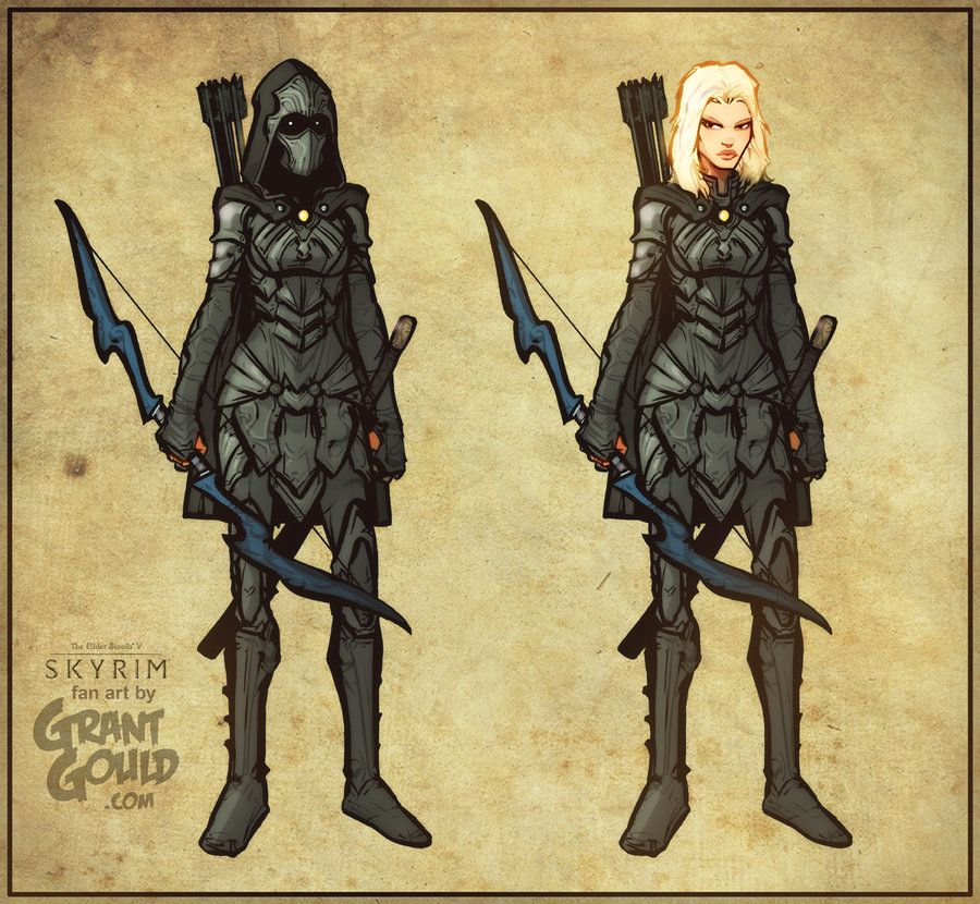 Nightingale Of Skyrim By Grantgoboom On Deviantart Nightingale Armor Character Design Skyrim Fanart